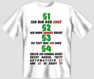 ich bin der chef (t-shirt) lustige t-shirts sprüche-shirts fun